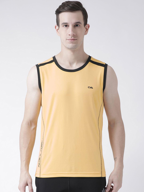 Club York Yellow Polyester T-Shirt