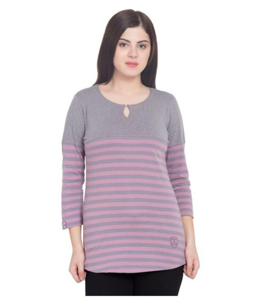 SBO FASHION Cotton Purple T-Shirts
