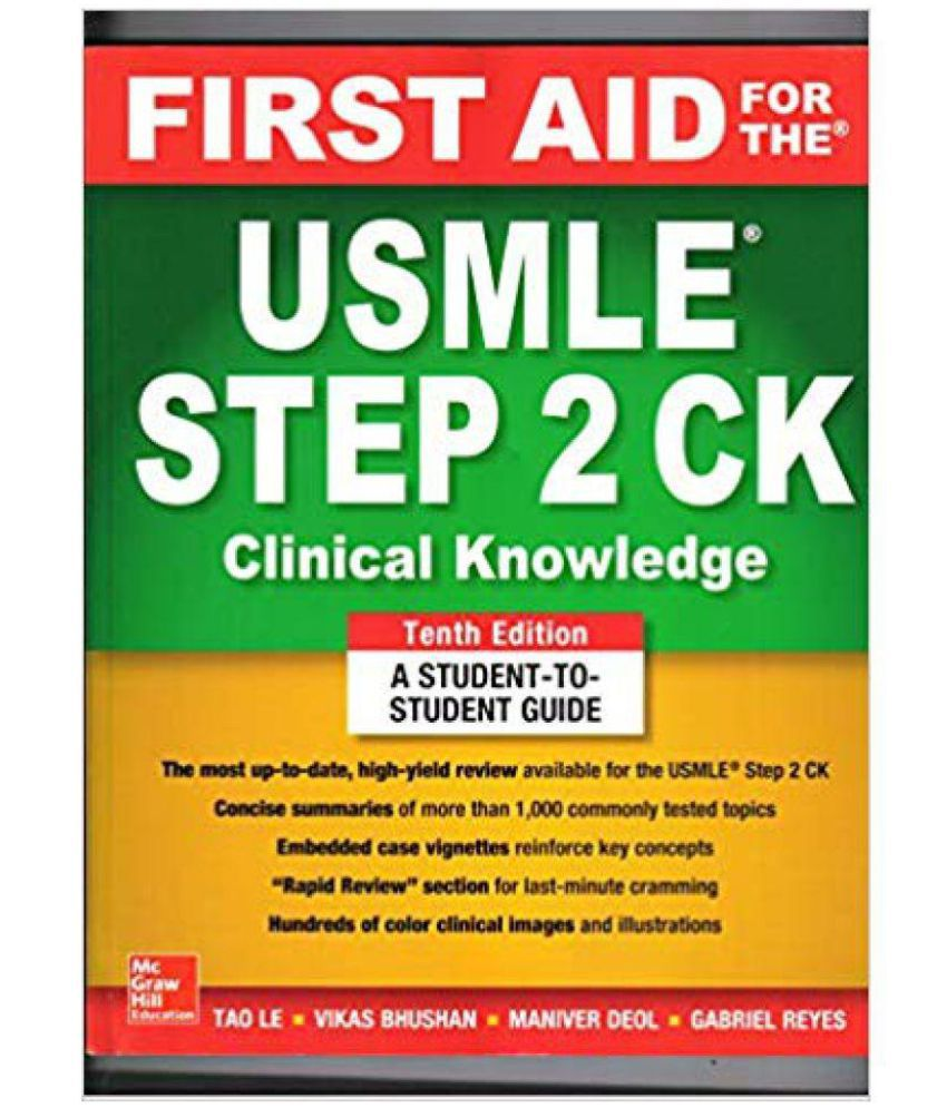 First Aid For The USMLE Step 2 CK - 10 Ed  (2019)