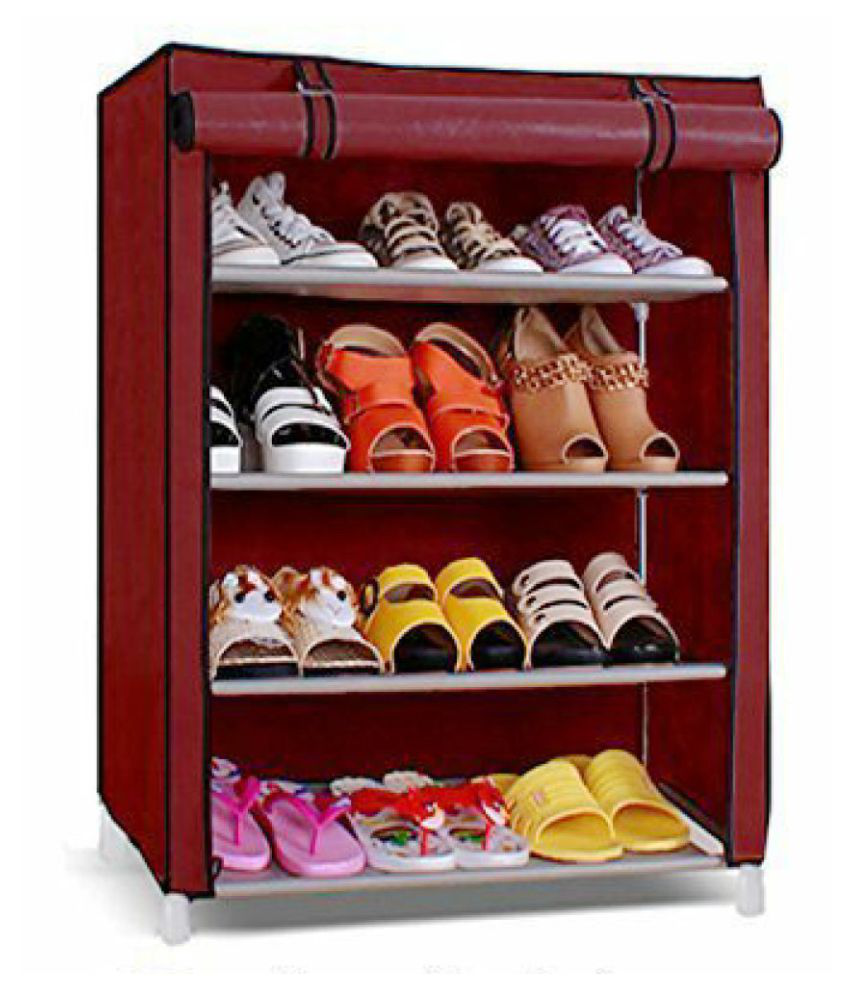 Furniture Metal 4 Tier Shoe Rack/Shoe Stand with Cover