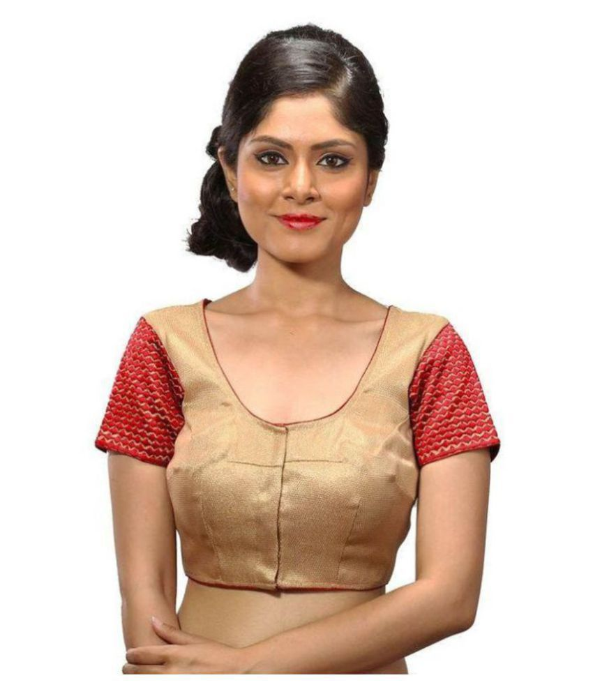 Intrigue Gold Silk Readymade without Pad Blouse