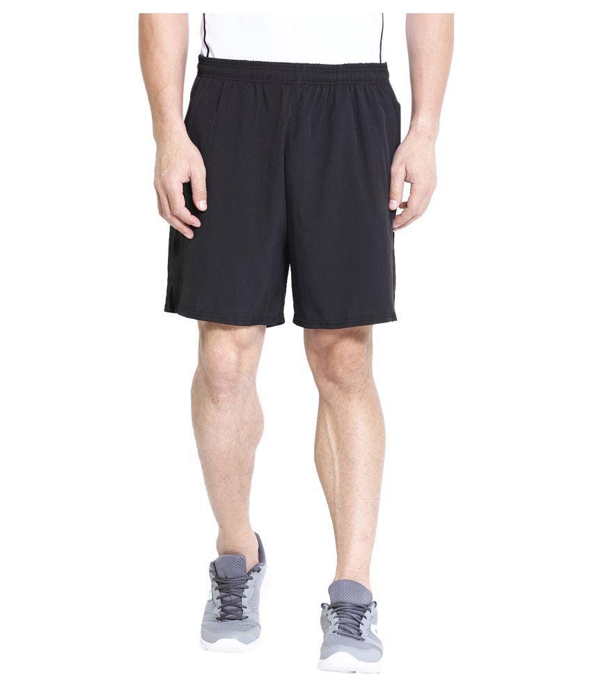 CHKOKKO Men's Running Gym Workout Regular Shorts for Men Black Size XL