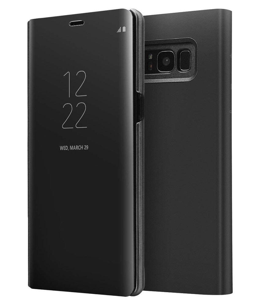 Samsung Galaxy S8 Flip Cover by REGLET - Black
