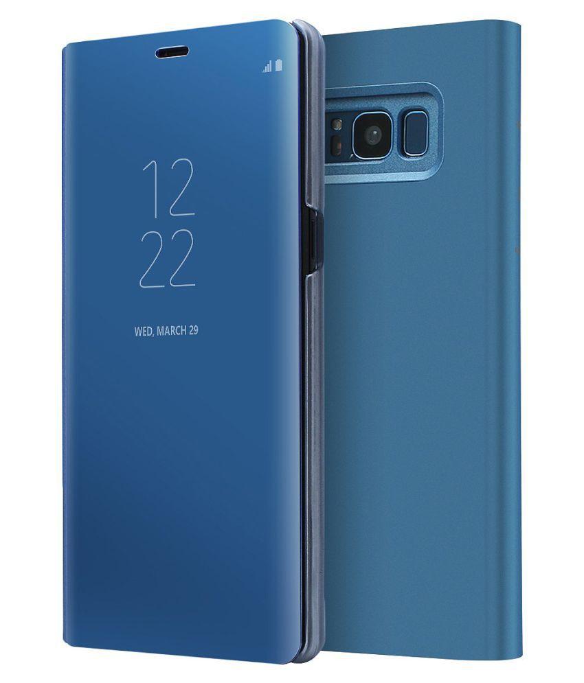 Samsung Galaxy S8 Flip Cover by REGLET - Blue