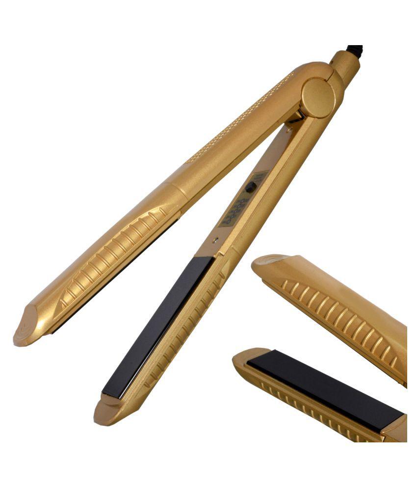 Jm Gemai Temperature Control Travel Professional Hair Straighteners Flat Iron 45W Hair Straightener ( Golden )