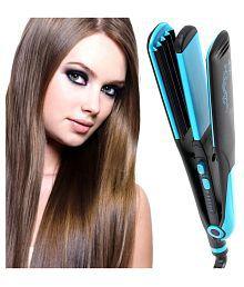SJ Temperature Control Flat Iron Professional Travel Hair Straighteners 45W Hair Straightener ( Blue & Black )
