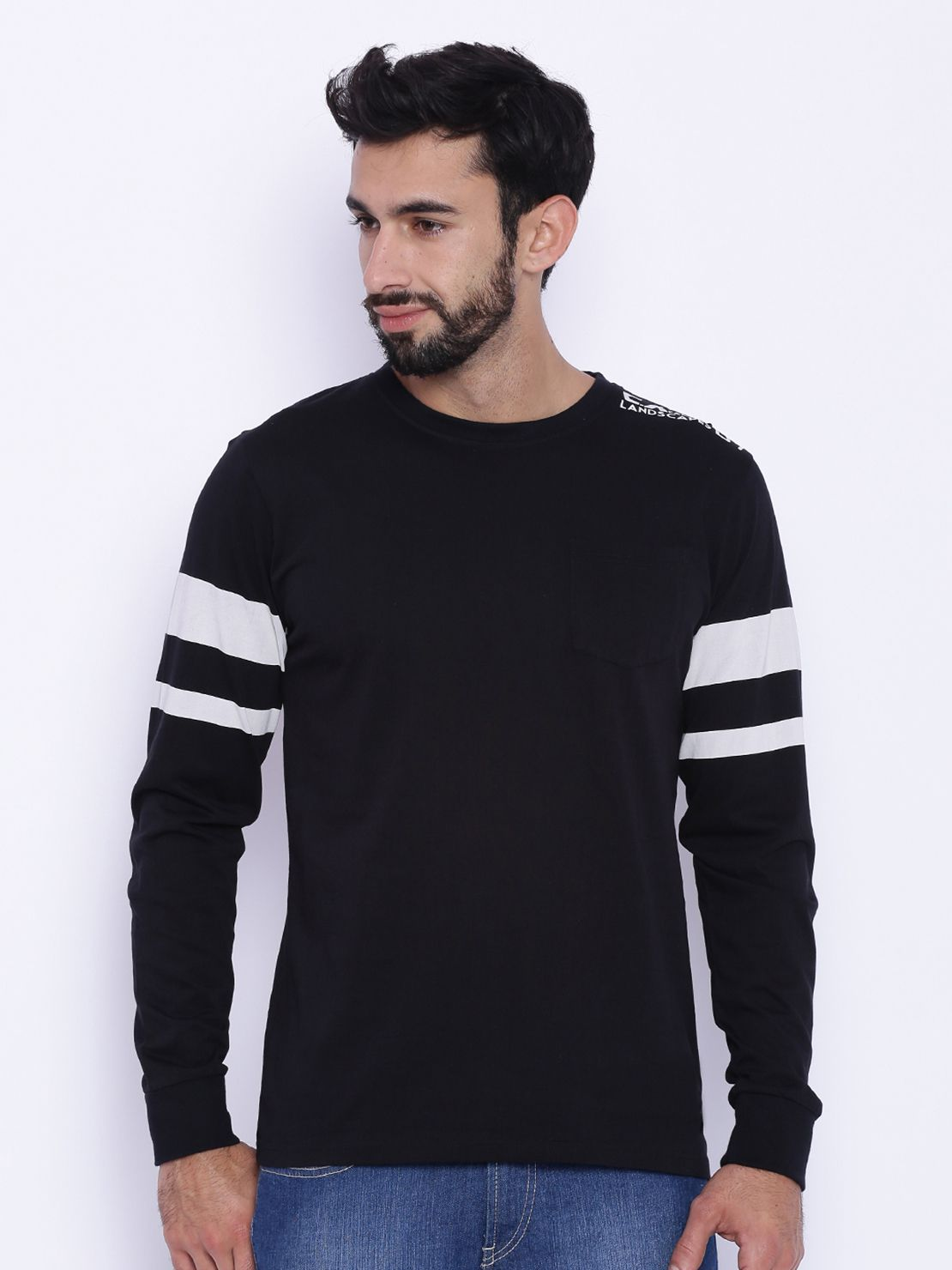Difference of Opinion Black Full Sleeve T-Shirt