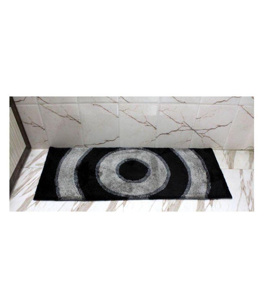 Indian Textiles Black Single Regular Floor Mat