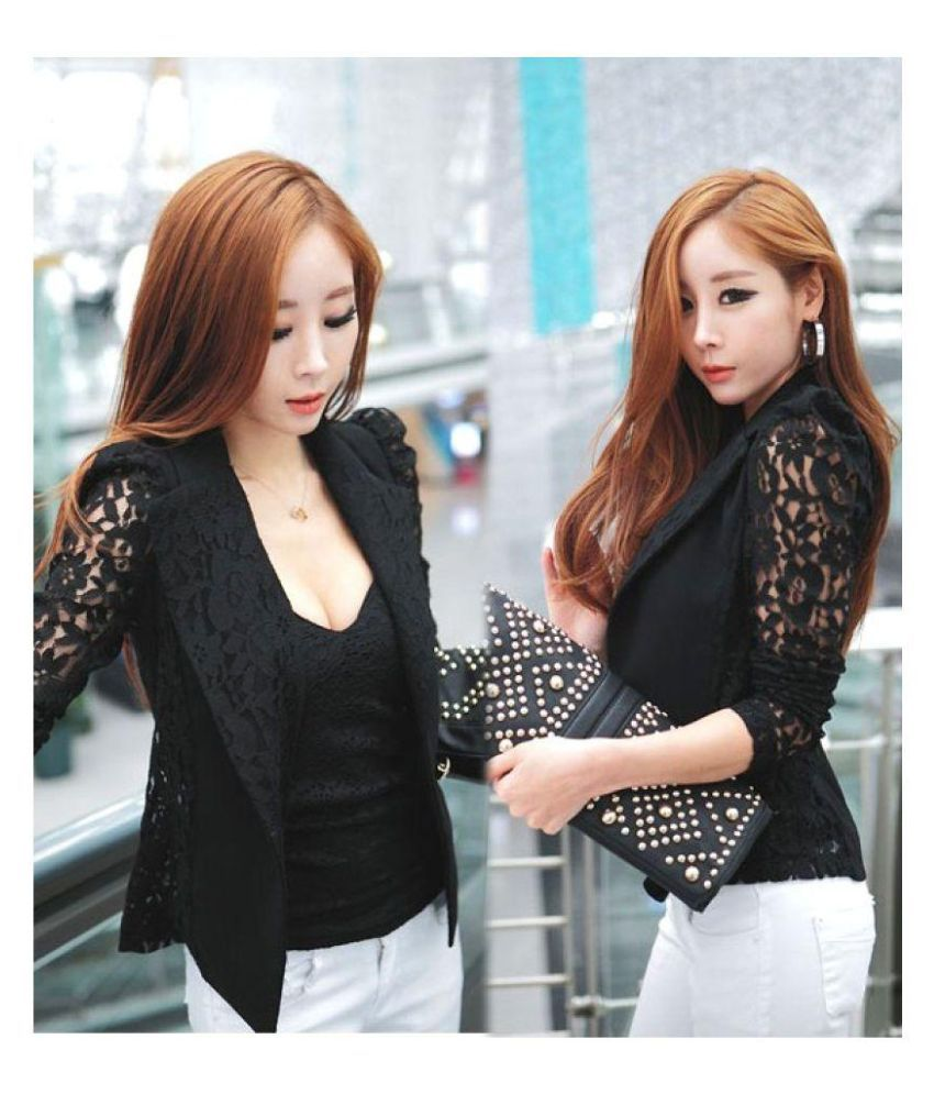 Elegant Black Lace Coat