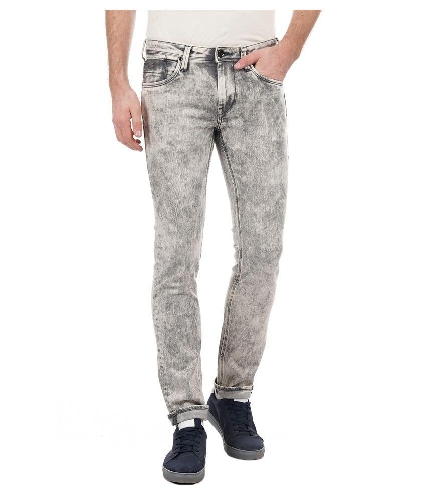 Flying Machine Grey Skinny Jeans