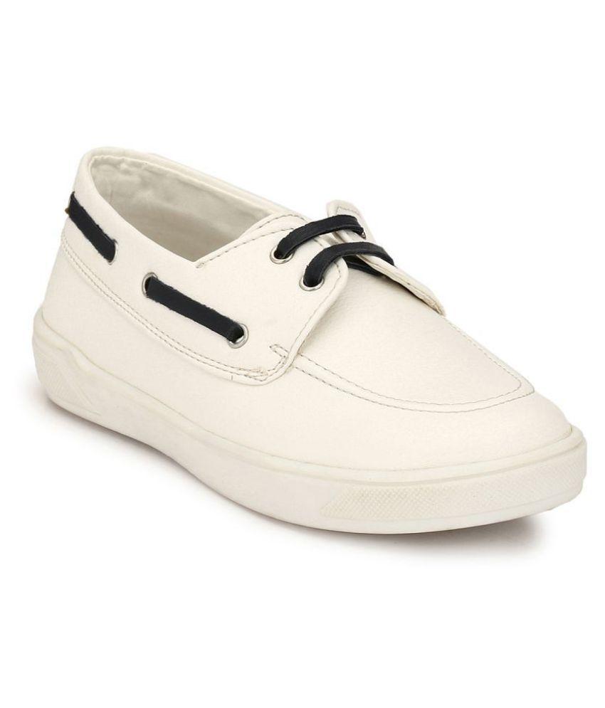 Hirels White Kids Derby Sneakers