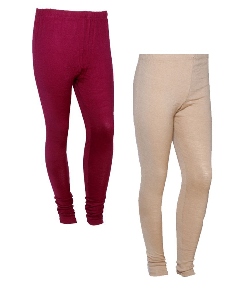 IndiWeaves Woollen Pack of 2 Leggings