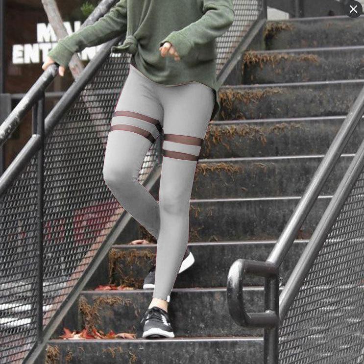 df76ef839a1 Buy Quick Dry Women Pockets Mesh Splice Waist Elastic Leggings Slim ...