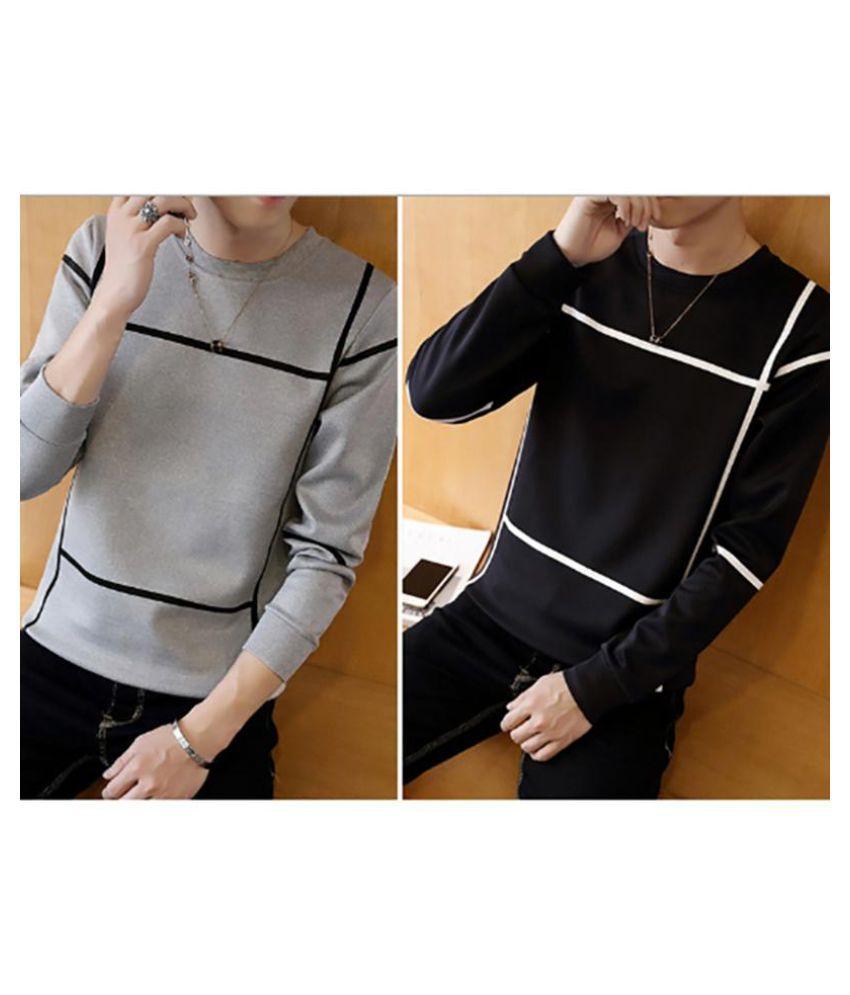 The fall male T-shirt long sleeve shirt hoodies men Kuanqiu Korean youth fashion clothes with a thin shirt