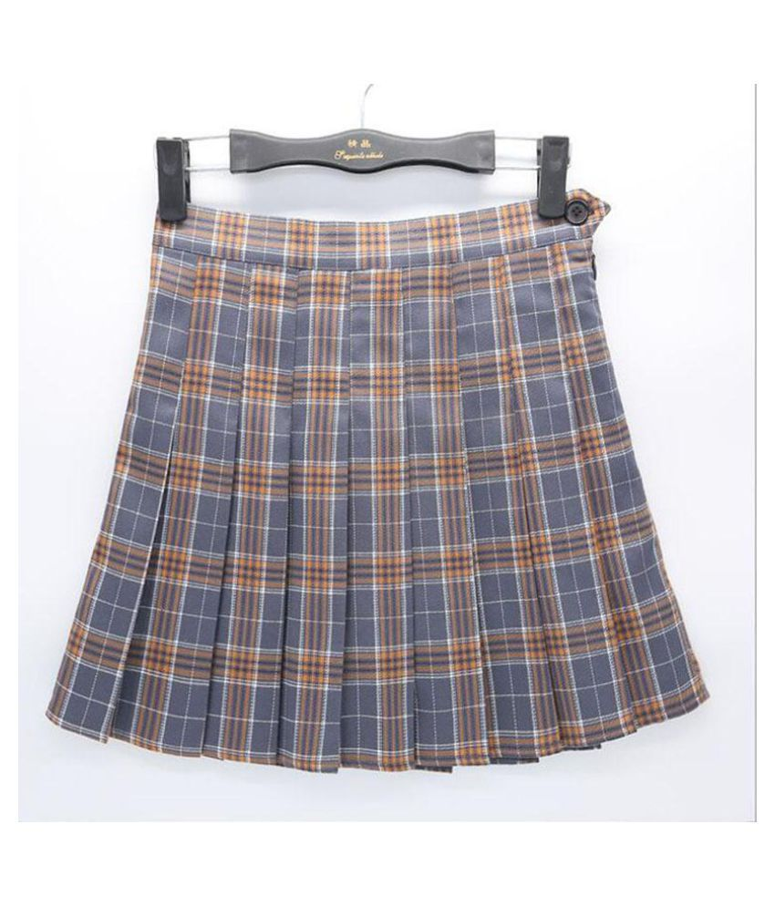805872dc2a802b Women Girls Short Lattice Tennis Skirt High Waist Pleated Skater School  Skirt Uniform with Inner Shorts - Buy Women Girls Short Lattice Tennis Skirt  High ...