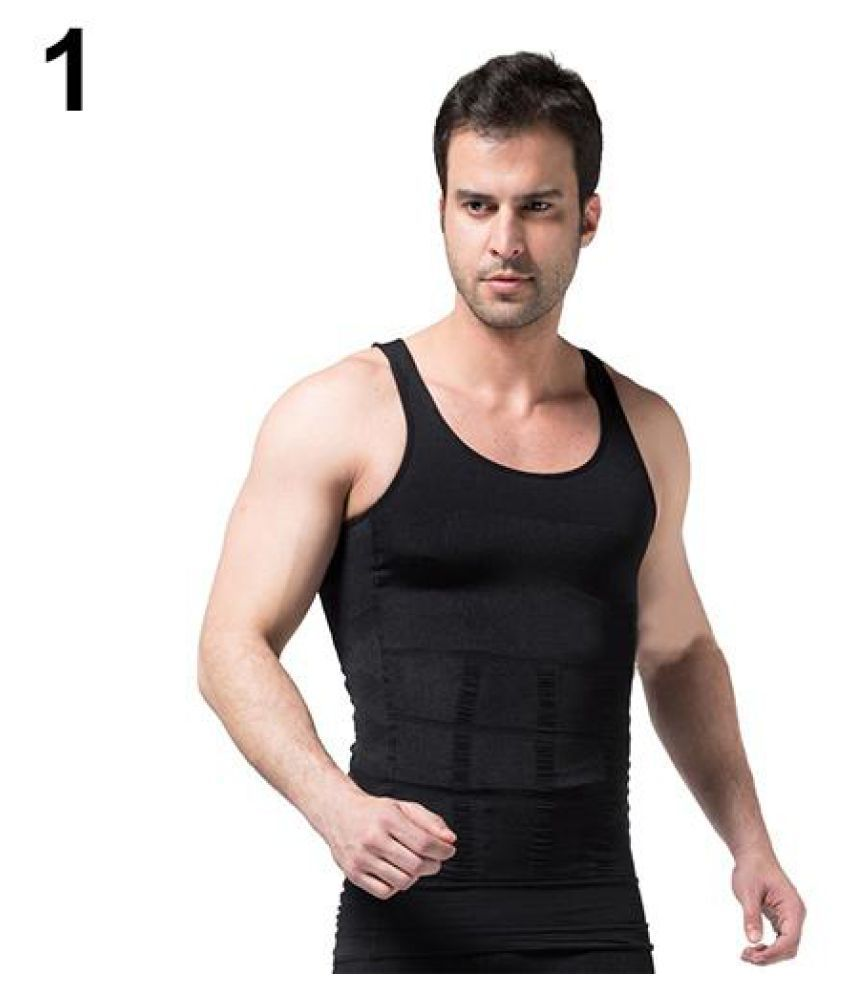 8faab2971ff8d Men s Slimming Body Shaper Waist Training Corset Tank Top Underwear  Shapewear ...