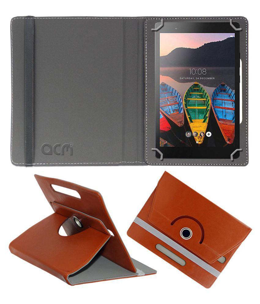 Lenovo Tab 3 8 Plus Flip Cover By ACM Brown