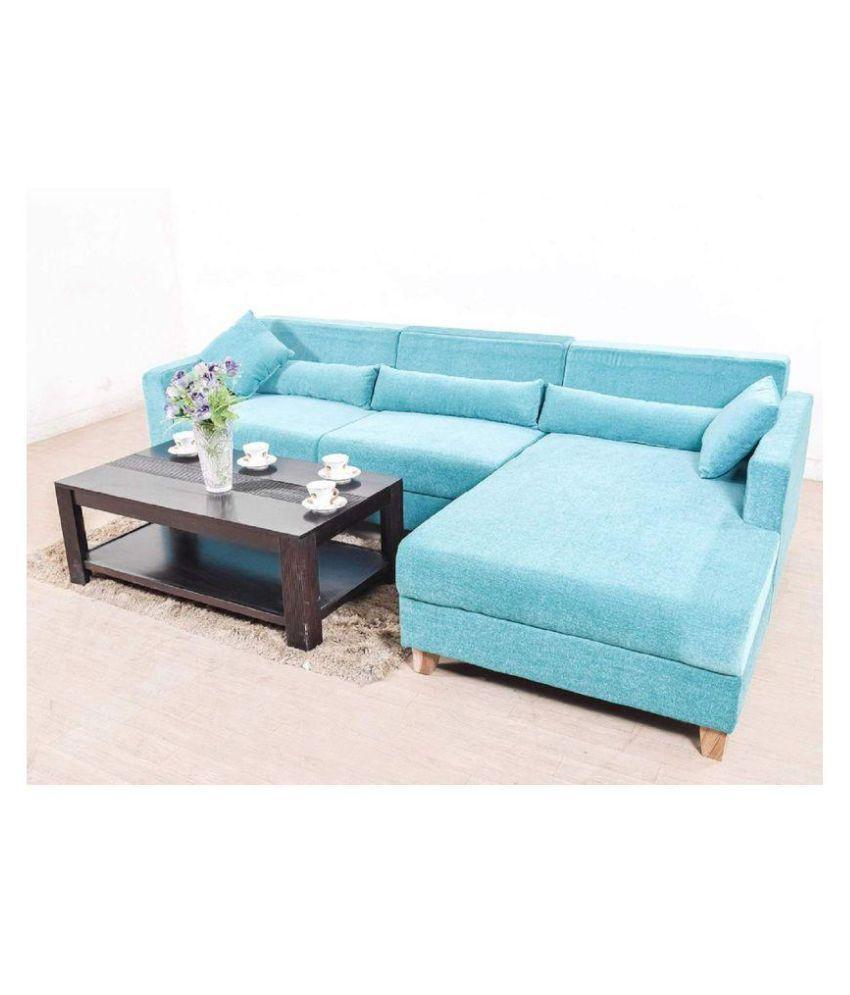 Sunny Designer Sofas Fabric 3 Seater Sofa