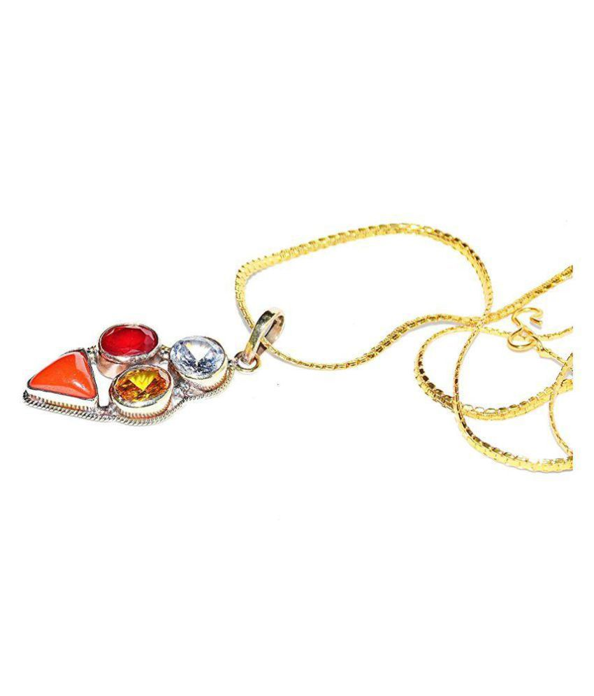 Cancer Zodiac Self Certified Multicolor 100% Original semi precious Gemstone Prosperity Pendant For Kark Rashi