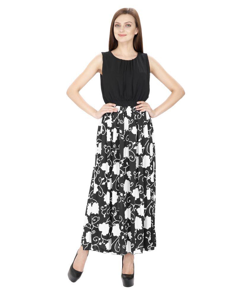 Ritu Designs Cotton Lycra Black Regular Dress