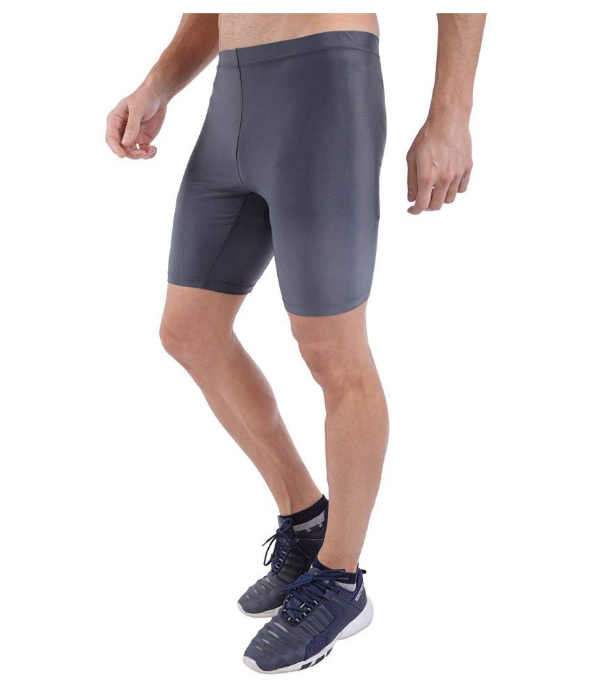 Spinway Half Tight Compression Active Wear Athletic Fit Multi Sport Outdoor Inner Wear (Grey)(Extra Large)