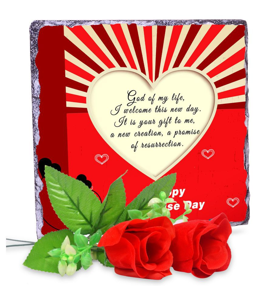 AlwaysGift Ceramic Valentine Hamper Multicolour - Pack of 3