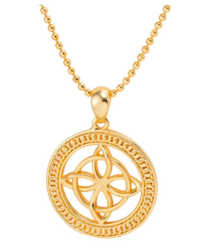 Dare by Voylla Buddhist Symbol Designer Pendant With Chain