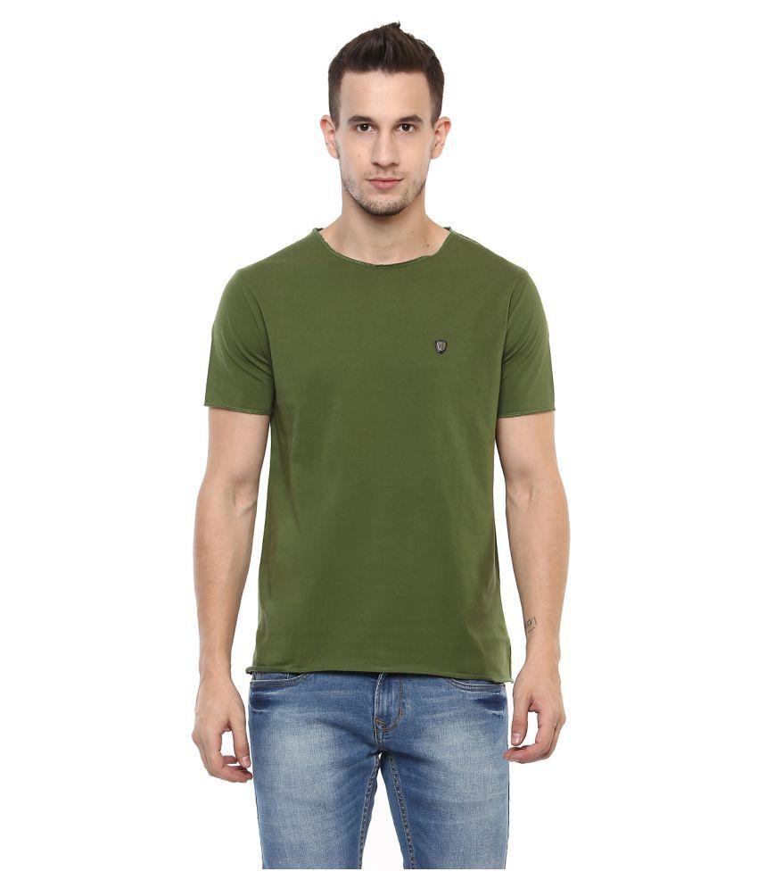 Elaborado Green Half Sleeve T-Shirt