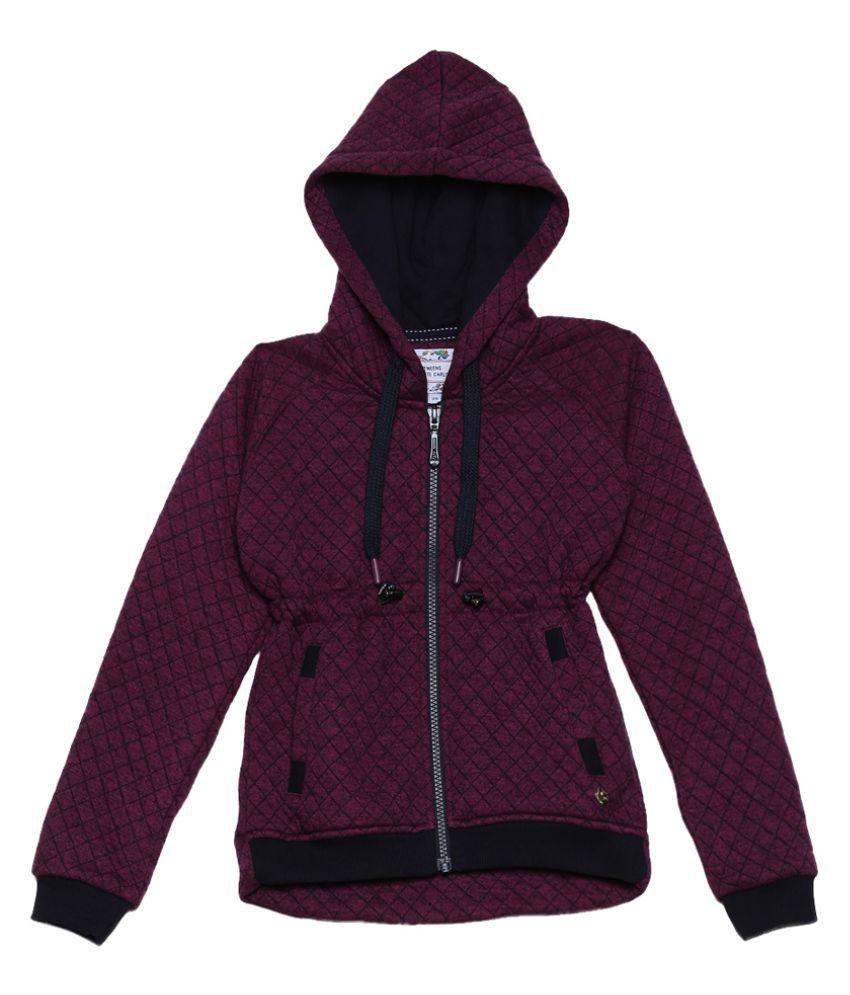 Monte Carlo Purple Solid Cotton Hood Sweatshirts