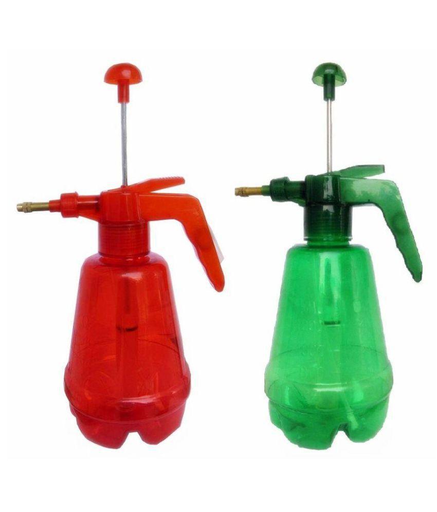 2pc 1 2 Liter Coloured Spray Pump Handheld Water Pump Sprayer Atomizer  Compression Air Pressure Sprayer + Adjustable Brass Nozzle for Mist & Spray  +