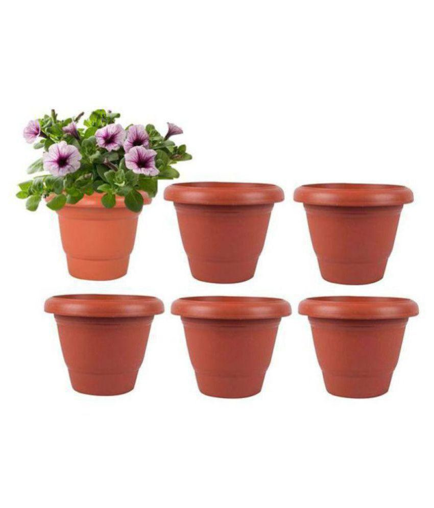 Alkarty 8 Inch - Set Of 6 Brown Plastic Flower Pot/Pots/Planters Buy Alkarty 8 Inch - Set Of 6 Brown Plastic Flower Pot/Pots/Planters Online at Low Price - ...  sc 1 st  Snapdeal & Alkarty 8 Inch - Set Of 6 Brown Plastic Flower Pot/Pots/Planters ...