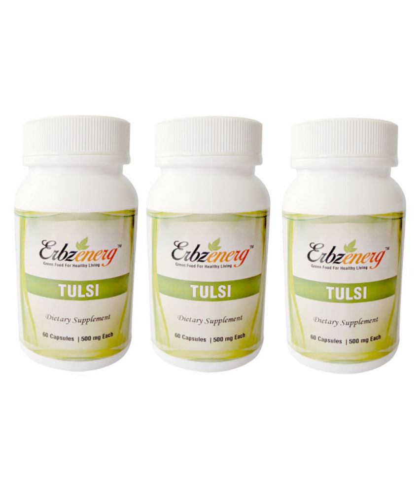 Erbzenerg Tulsi 60 Capsule 500 mg Pack of 3