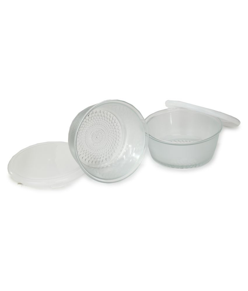 AFAST Transparent Container Set Of Two With Plastic Lid Glass Food Container Set of 4