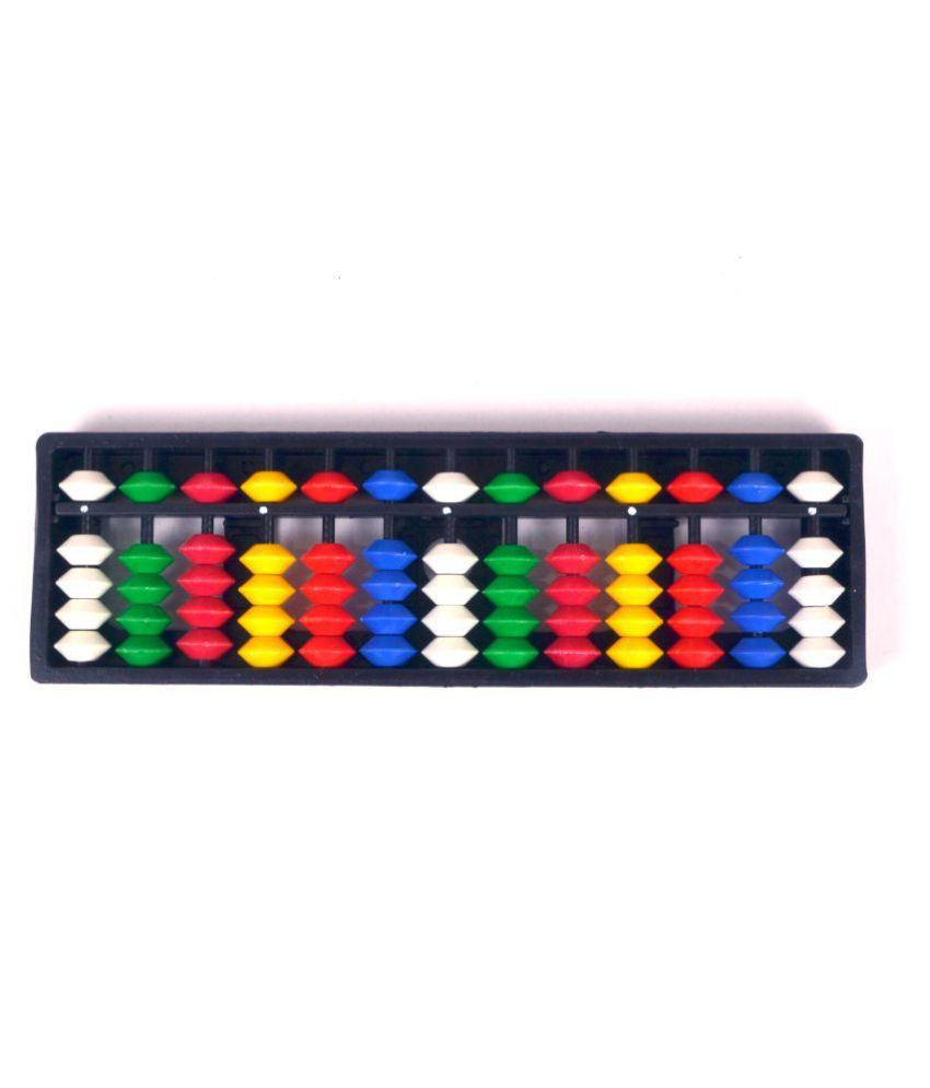 Abica Abacus Math Learning Kit for Kids 13 Rod Multicolor Pack Of 1