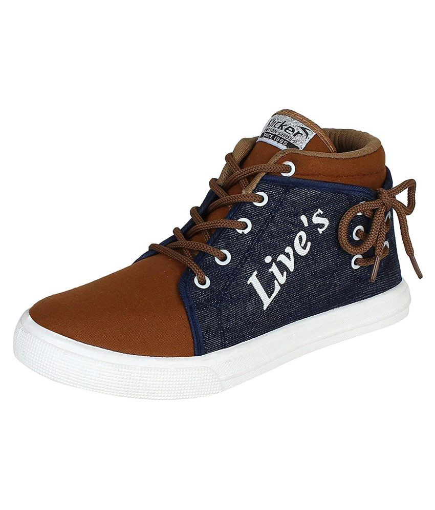 Ethics Sneakers Tan Casual Shoes