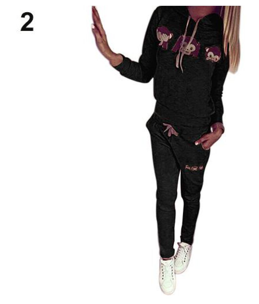 Women's Clothing New Womens Casual Monkey Face Top Sweatshirt Pant Suit Sweat Tracksuit Hoodies Traveling