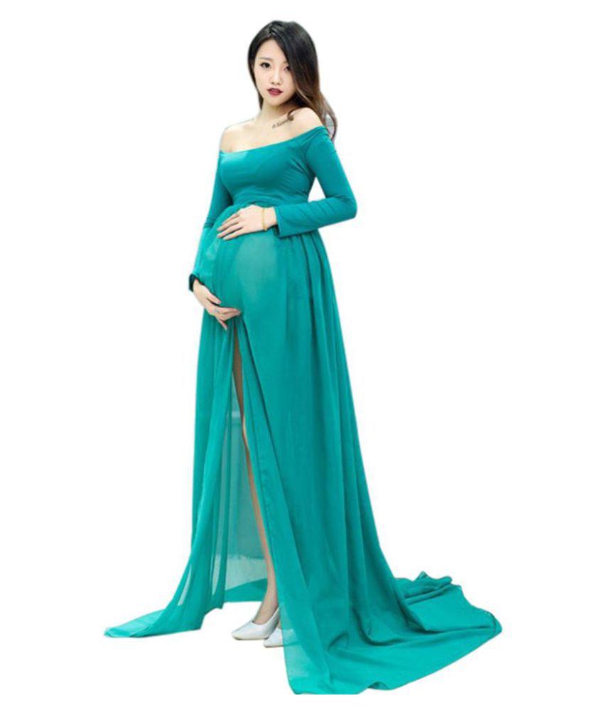 11f1578f24e Fashion Pregnant Long Maxi Dress Chiffon Maternity Photography Props Clothes  - Buy Fashion Pregnant Long Maxi Dress Chiffon Maternity Photography Props  ...