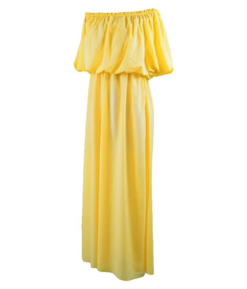 7d521757db Women Boat Neck Strapless Maxi Dress Mom Kid Family Matching Parent-child  Outfit ...
