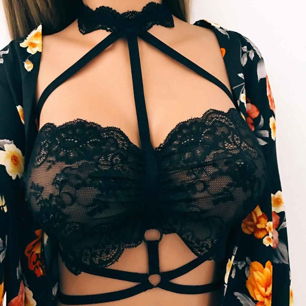 70d301b6449 Buy Halter Bandage Sexy Hollow Harness Lace Strappy Bra Bralette Women Crop  Top Online at Best Prices in India - Snapdeal