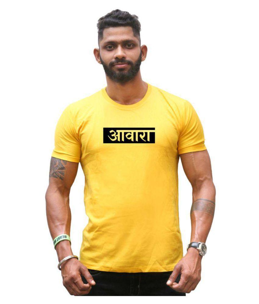 CTZSHOP Yellow Half Sleeve T-Shirt Pack of 1
