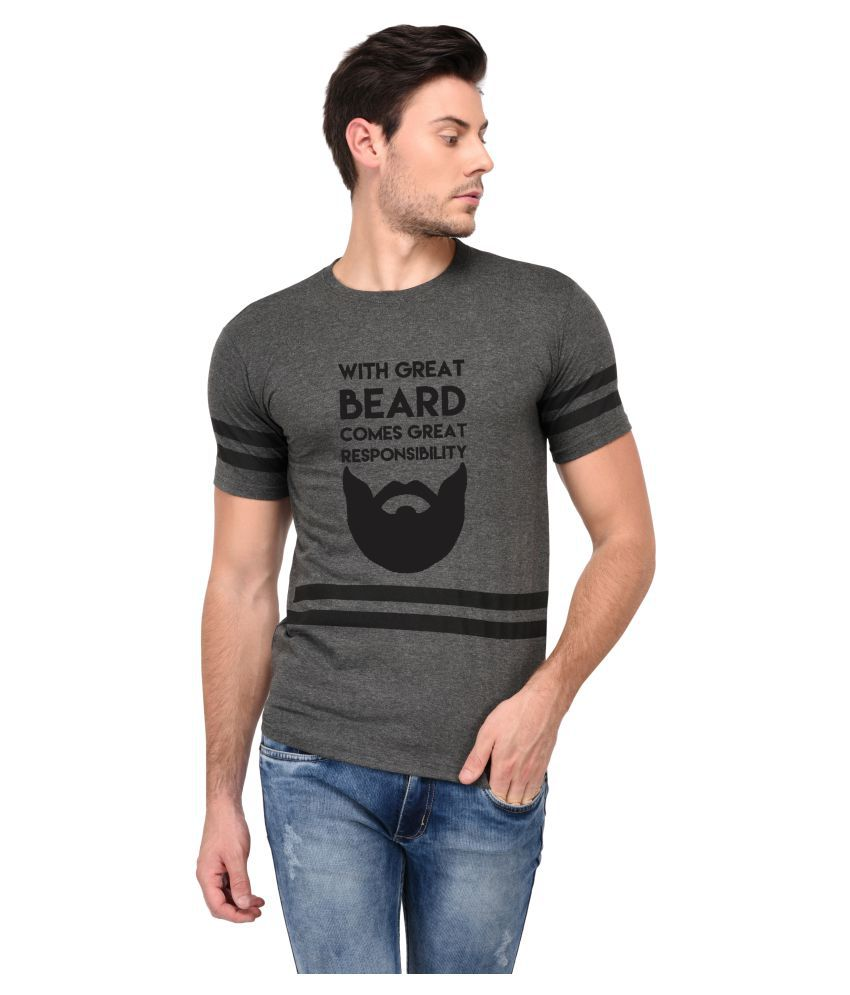 Trends Tower Grey Half Sleeve T-Shirt