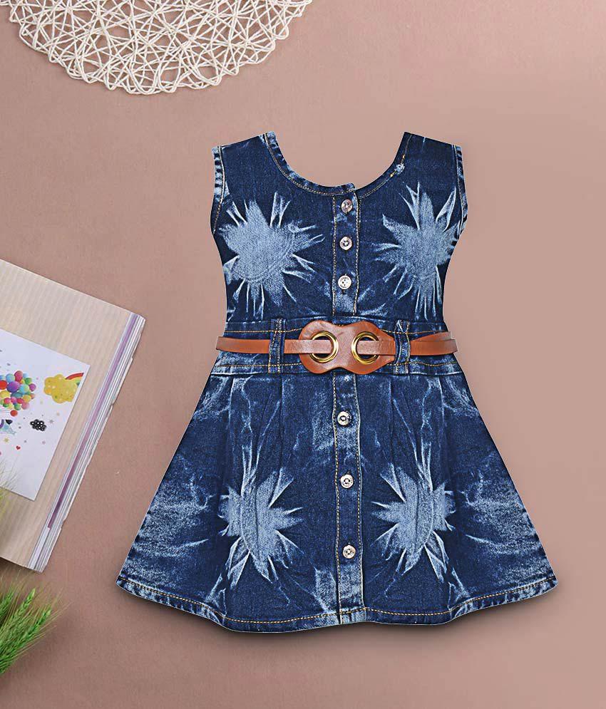 b1c050151 Benkils Cute Fashion Baby Girl's Infant Jeans Party Wear Frock Dress ...