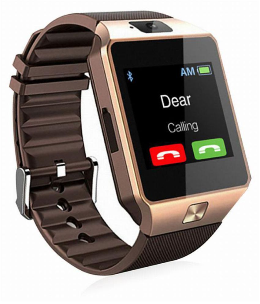 6530d2afc ShutterBugs DZ09 Bluetooth Camera Smart Watch with SIM Memory Card Support  For Android & iOS Devices for Men & Women - Gold - Wearable & Smartwatches  Online ...