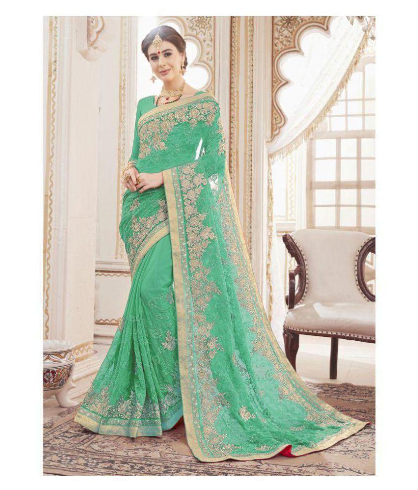 508b103a193c05 Viviki Fashion Green Georgette Saree - Buy Viviki Fashion Green Georgette  Saree Online at Low Price - Snapdeal.com