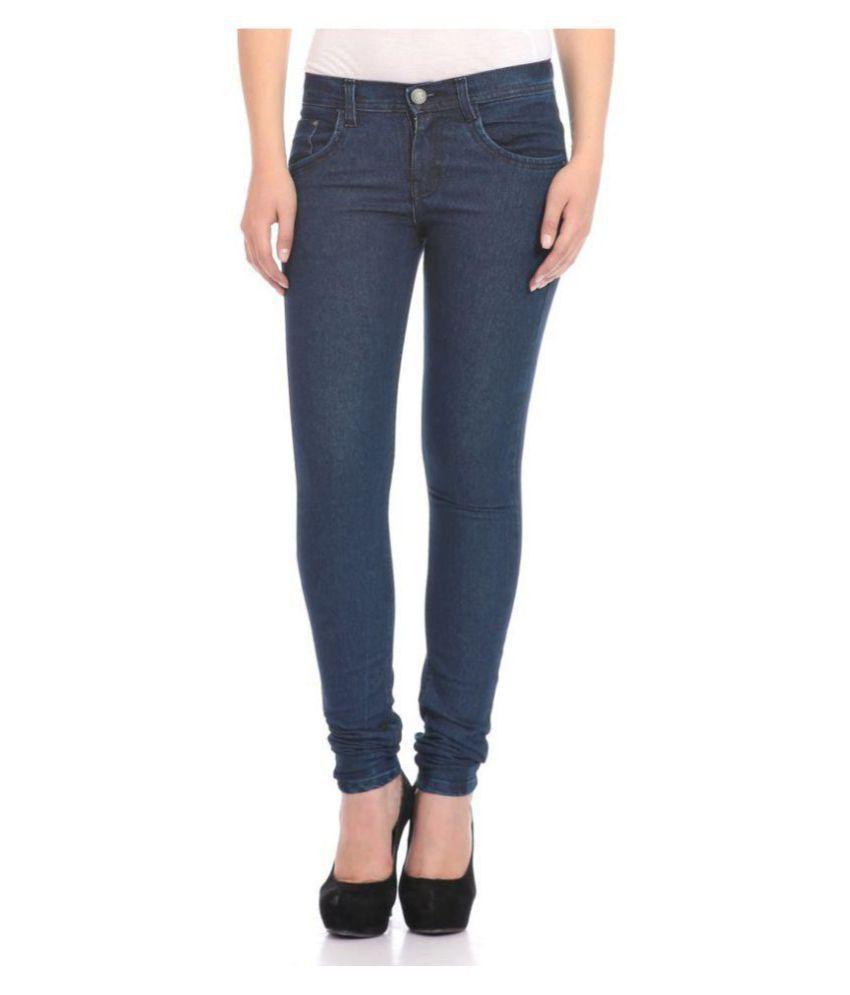 American-Elm Cotton Lycra Jeans - Blue
