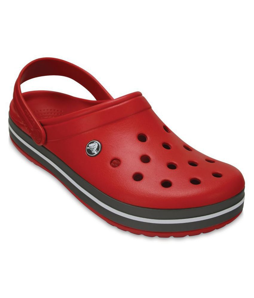 61b751a7e7242b Crocs Red Croslite Floater Sandals - Buy Crocs Red Croslite Floater Sandals  Online at Best Prices in India on Snapdeal