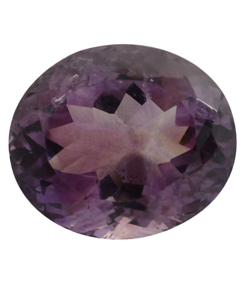 pitliya jewellers 3 -Ratti Self certified Purple Amethyst Semi-precious Gemstone