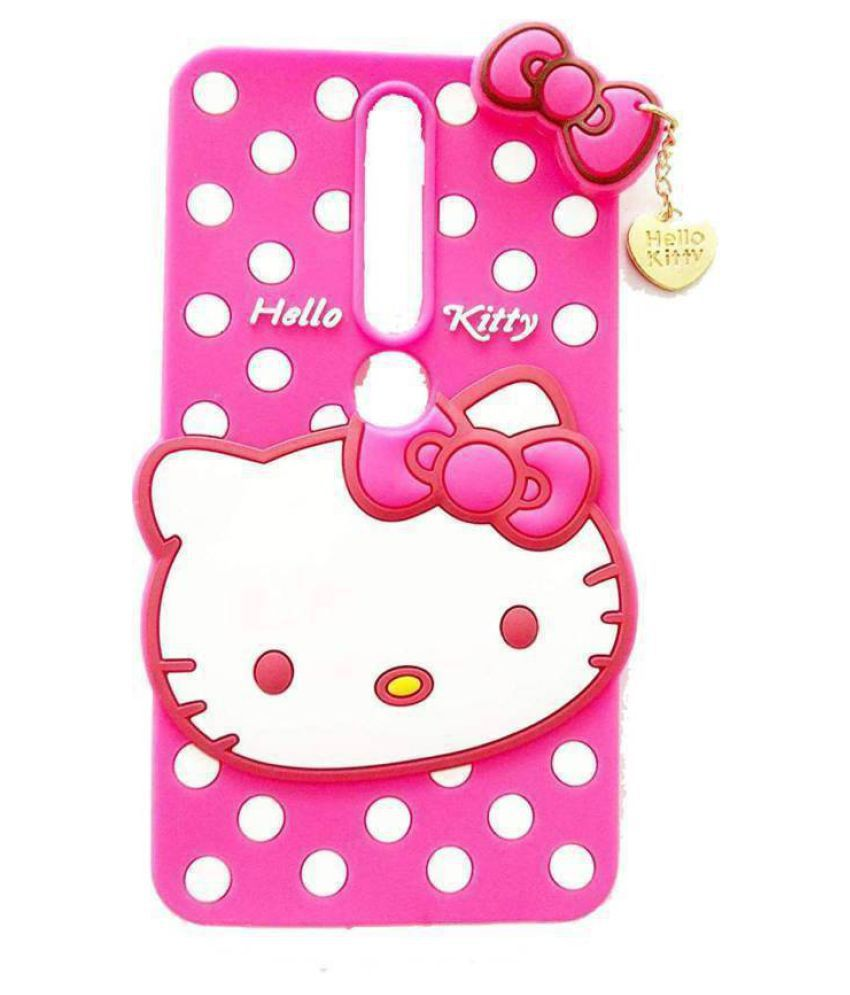 Nokia 6.1 Plain Cases KOVADO - Pink 3D Hello Kitty