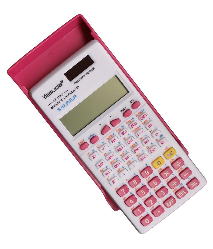 Yasuda Scientific Calculator TYS-11WS Pink Colour