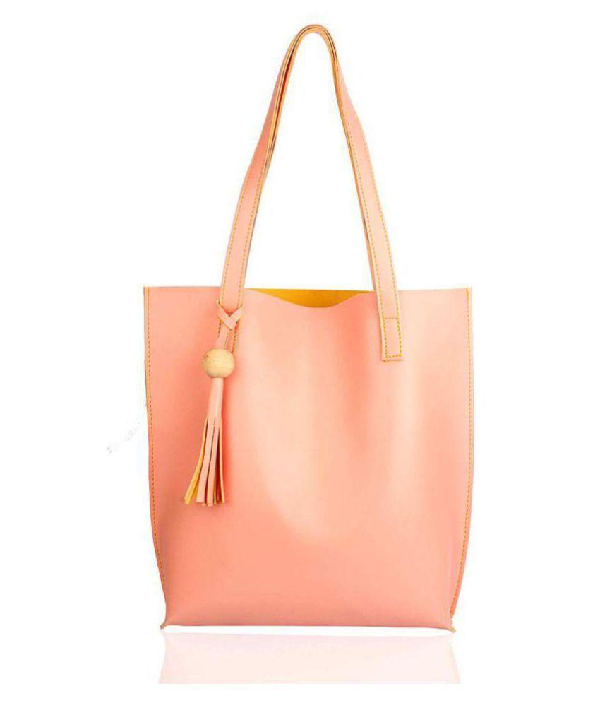 Mammon Pink P.U. Tote Bag